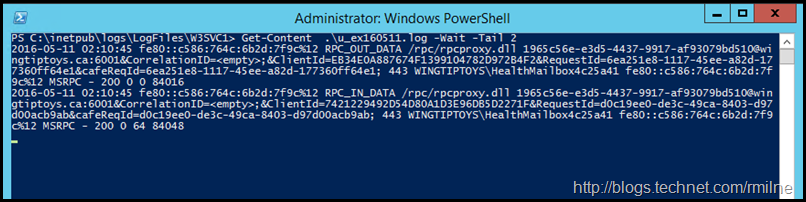 PowerShell Tail Command - Waiting For Additional Content