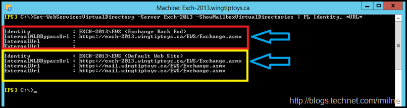 Example of Incorrect InternalNLBBypassURL Configuration - Highlighted to Show Different Web Sites