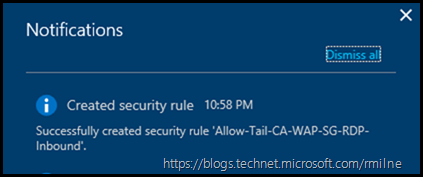 Notification Of Allow Rule Created