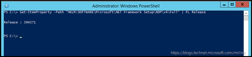 Verify .NET Framework Installed Using PowerShell