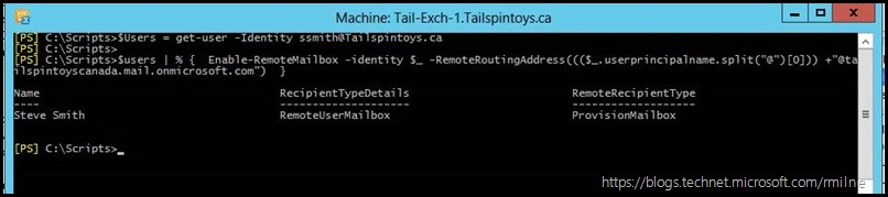 Automating Enable-Remote Mailbox