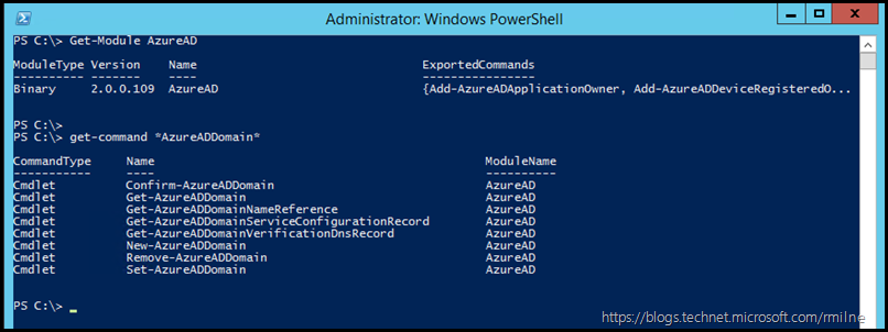 Checking Version of Azure AD V2 Module