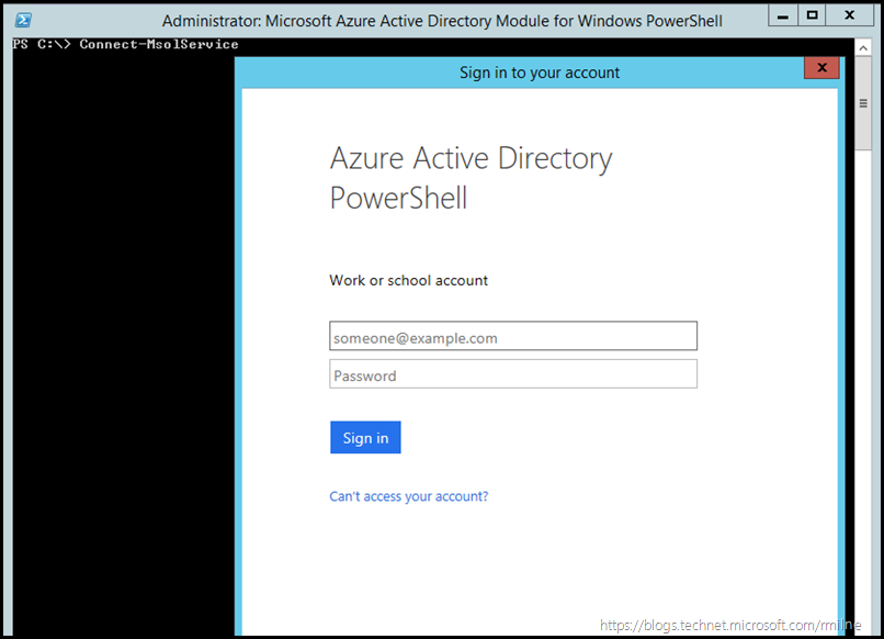Connecting to Azure AD