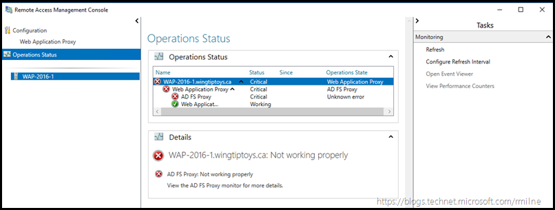 Checking WAP Operation Status - Required Service Not Running