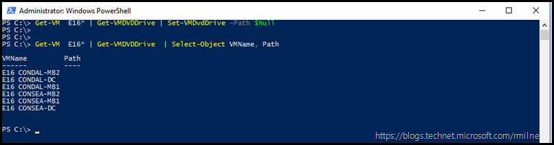 Using PowerShell to Dismount ISO Image