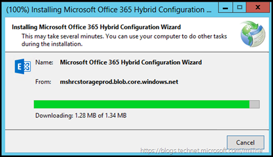 Installing Office 365 Hybrid Configuration Wizard