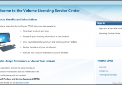 Volume Licensing Download Site