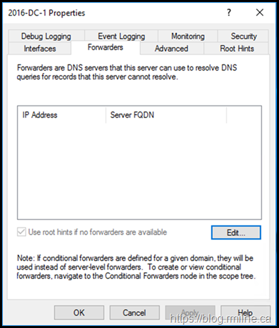 Azure AD DC Incorrect DNS Forwarder Removed