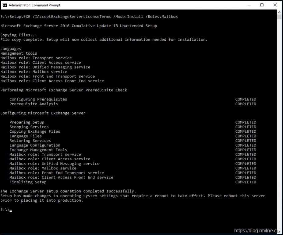 Active Directory Has Been Successfully Prepared. Now Able To Install CU Onto Exchagne Servers