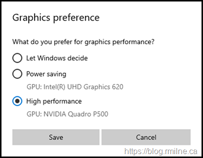 Windows Hardware Accelerated GPU Scheduling - Controlling Graphics Preference
