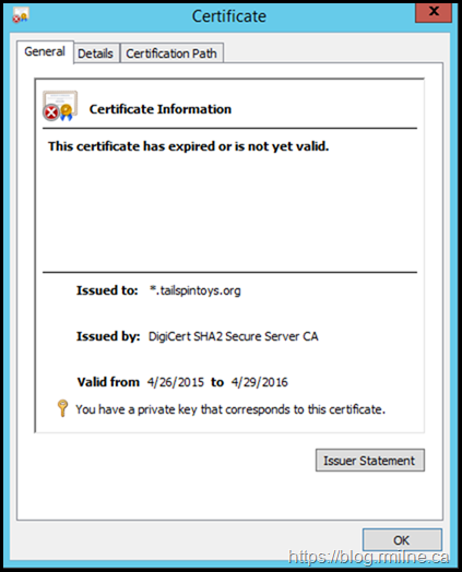 Expired Exchange Certificate - By 4.5 Years