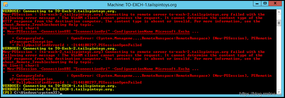 Exchange Management Shell Unavailable Due to Failed Install