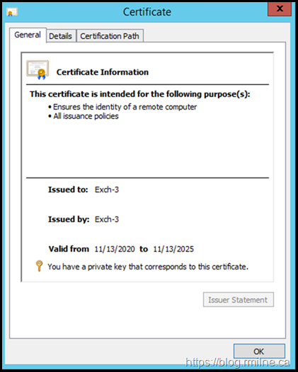 Self Signed Certificate Created During Install Is Trusted
