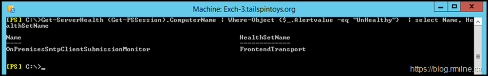 Filtering on HealthSetName To Focus In On The Issue