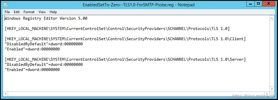 TLS 1.0 Disabled. DisabledByDefault Is Not Set