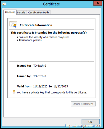 Newly Created Self-Signed Certificate Now Trusted