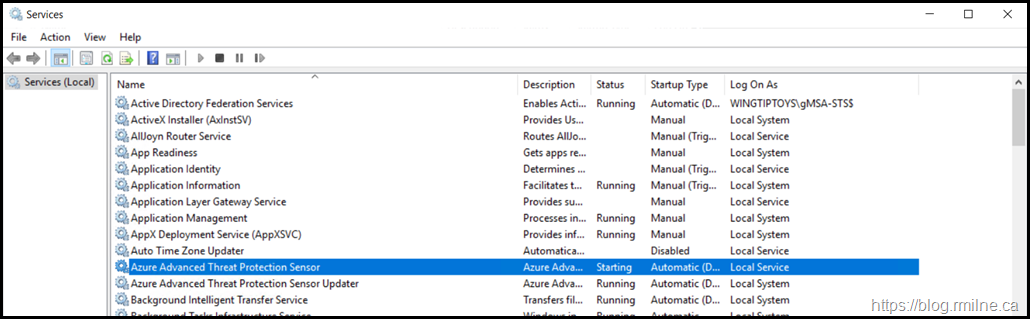 Defender For Identidy Sensor on AD FS Azure Advanced Threat Protection Sensor Service Stuck In Starting Status