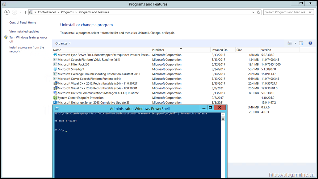 Exchange 2013 CU23 With .NET Framework 4.7.2