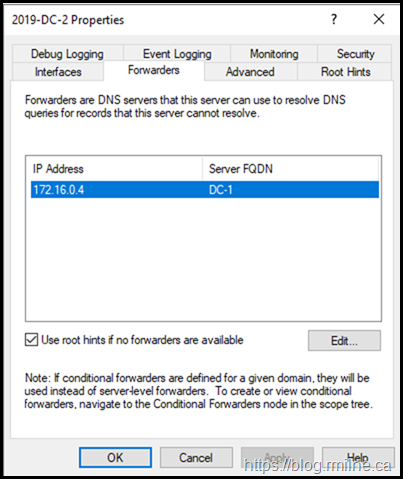 Azure AD DC Set With Incorrect DNS Forwarder After DCPromo
