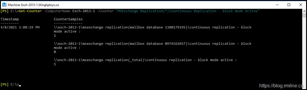 Verifying Continuous Replication Block Mode Status