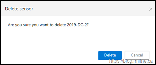 Microsoft Defender for Identity - Delete Confirmation